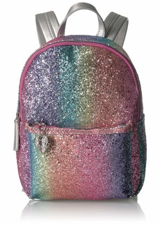 Betsey Johnson Rainbow Glitter Mini Backpack mutli