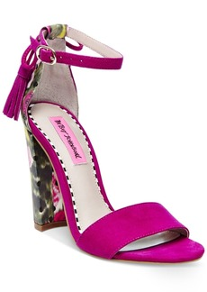Betsey Johnson Rallo Two-Piece Block-Heel Sandals Women's Shoes