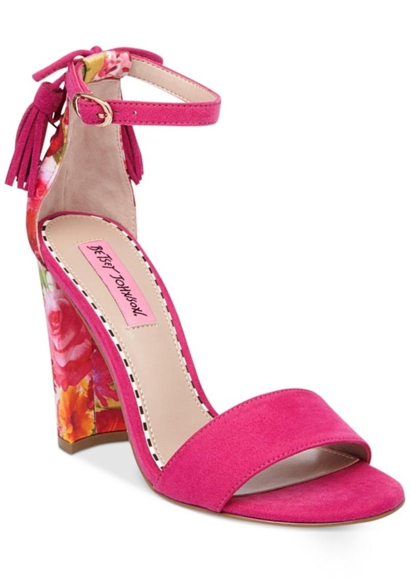 Betsey Johnson Rallo Two-Piece Block-Heel Sandals Women's Shoes