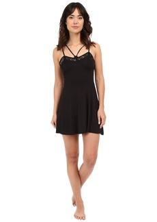 Betsey Johnson Rayon Knit & Lace Slip