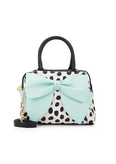 Betsey Johnson Ready Set Bow Polka-Dot Satchel