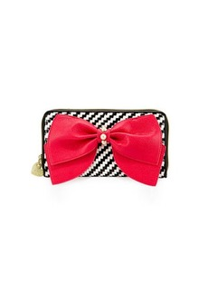 Betsey Johnson Ready Set Bow Wallet On A String