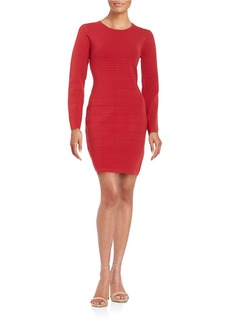 BETSEY JOHNSON Ribbed-Knit Sheath Dress