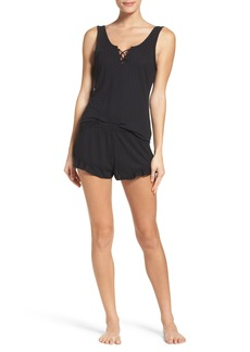 Betsey Johnson Ribbed Short Pajamas