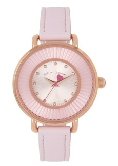 Betsey Johnson Rose Gold Textured Dial Watch 38mm