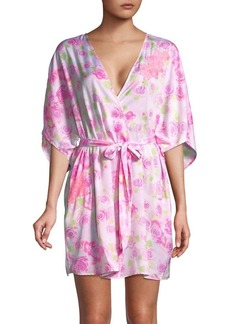 Betsey Johnson Rose-Print Robe