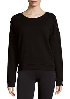 Betsey Johnson Roundneck Cotton Pullover
