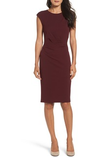 Betsey Johnson Ruched Ponte Sheath Dress (Online Only)