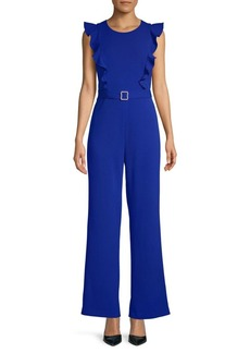Betsey Johnson Ruffled Belted Jumpsuit