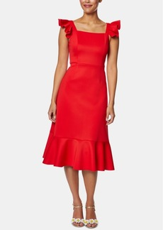 Betsey Johnson Ruffled Flounce Midi Dress