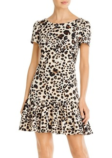 Betsey Johnson Ruffled Leopard-Print Dress