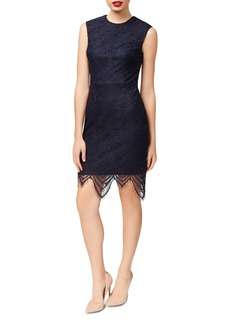 Betsey Johnson Scalloped-Hem Lace Sheath Dress