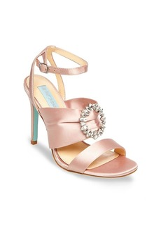 Betsey Johnson Scoti Embellished Satin Stiletto Sandals