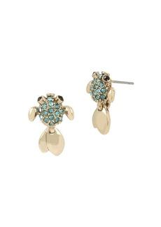 Betsey Johnson Sealife Pavé Crystal Fish Stud Earrings