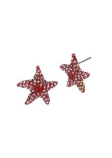 Betsey Johnson Sealife Pavé Crystal Starfish Stud Earrings