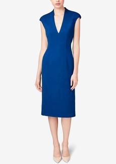 Betsey Johnson Seamed Cap-Sleeve Midi Dress