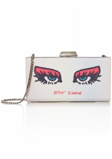Betsey Johnson See Me Kiss Me Clutch