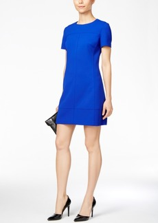 Betsey Johnson Short-Sleeve Crepe Shift Dress