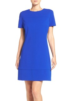 Betsey Johnson Short Sleeve Crepe Shift Dress