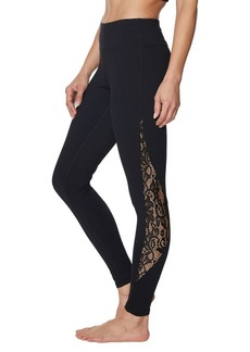 Betsey Johnson Side Lace Mesh Ankle Leggings