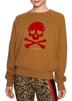 Betsey Johnson Skull Cotton-Blend Pullover Sweatshirt