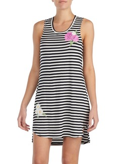 Betsey Johnson Sleeveless Printed Floral Chemise