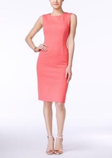 Betsey Johnson Sleeveless Textured Sheath Dress