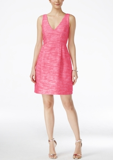 Betsey Johnson Sleeveless Tweed Fit & Flare Dress
