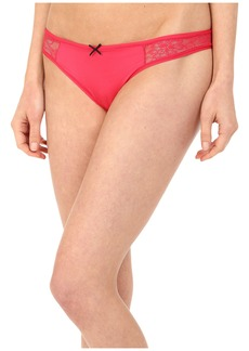 Betsey Johnson Slinky Knit & Lace Thong J2950
