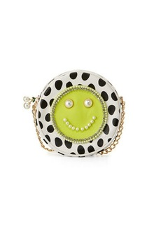 Betsey Johnson Smiley Pearl Polka-Dot Crossbody Bag