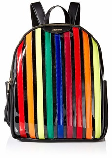Betsey Johnson Spotted in Stripes Large Backpack