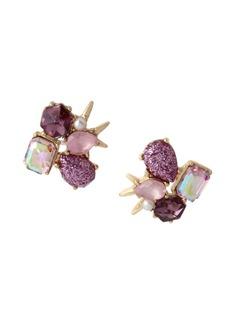 Betsey Johnson Stone Cluster Stud Earrings