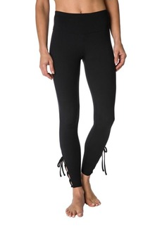 Betsey Johnson Strappy Lace-Up Mid-Rise Leggings