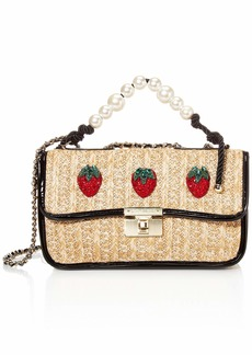 Betsey Johnson Strawberry Fields Pearl Top Handle Shoulder Bag