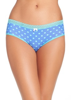 Betsey Johnson Stretch Cotton Hipster Panty