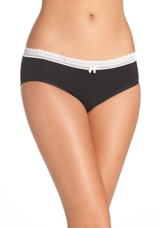 Betsey Johnson Stretch Cotton Hipster Panties