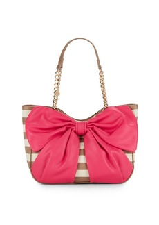 Betsey Johnson Striped Tote Bag