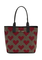 Betsey Johnson Studded Heart Tote