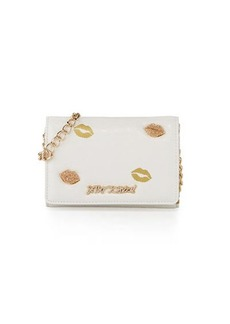 Betsey Johnson Sugar Lips Embossed Wallet-On-Chain Bag