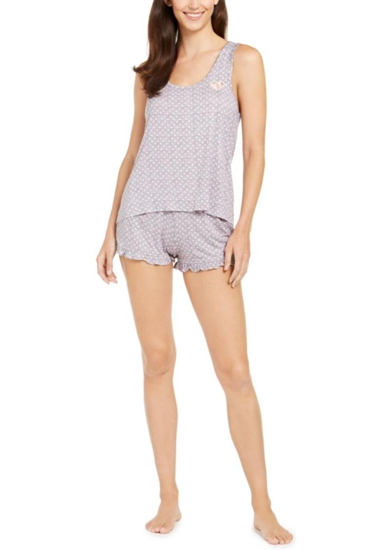 Betsey Johnson Tank Top & Boxer Shorts Pajamas Set