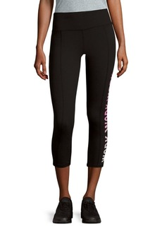 Betsey Johnson Text Graphic Active Cropped Leggings