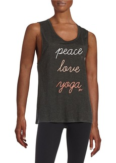 BETSEY JOHNSON Text Graphic Tank Top