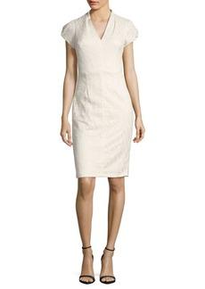 Betsey Johnson Textured V-Neck Knit Dress