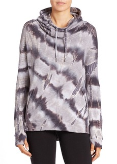 BETSEY JOHNSON Tie-Dyed Drawstring Pullover
