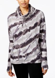 Betsey Johnson Tie-Dyed Funnel-Neck Sweatshirt