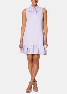 Betsey Johnson Tie-Neck Flounce Dress