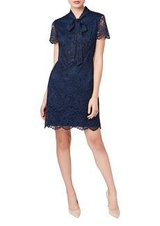 Betsey Johnson Tie Neck Lace A-Line Dress