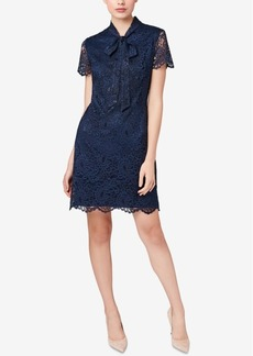 Betsey Johnson Tie-Neck Lace Sheath Dress