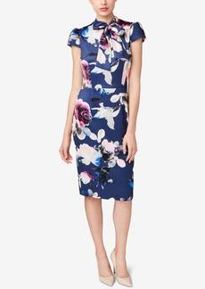 Betsey Johnson Tie-Neck Sheath Dress