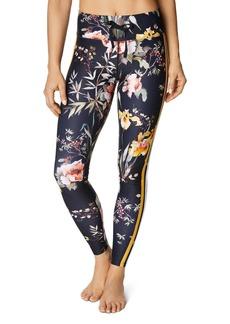 Betsey Johnson Track Stripe Floral Leggings
